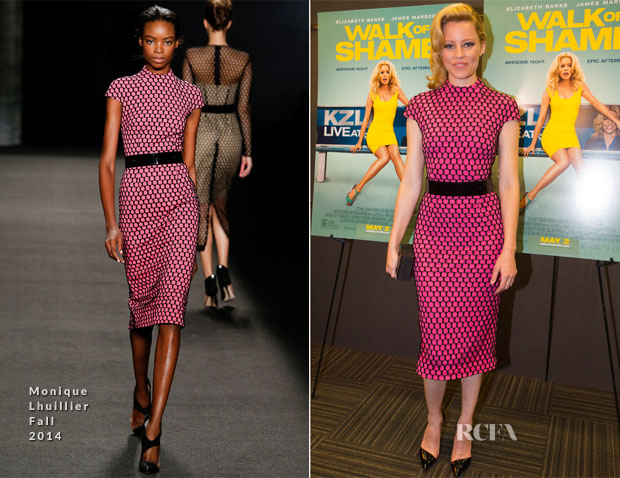 Elizabeth Banks In Monique Lhuillier - 'Walk of Shame' New Orleans Special Screening