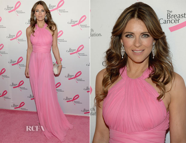 Elizabeth Hurley In Versace -  The Breast Cancer Research Foundation 2014 Hot Pink Party