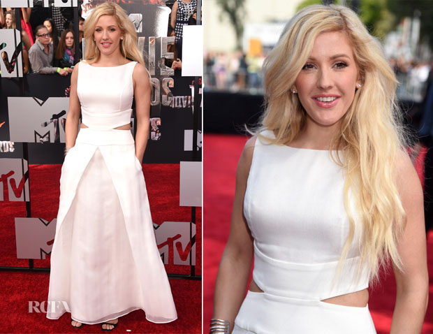 Ellie Goulding In Giorgio Armani - MTV Movie Awards 2014