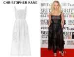 Ellie Goulding's Christopher Kane Broderie Anglaise Cotton Dress