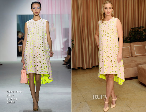 Emily Blunt In Christian Dior - Dior Beauty Operation Smile Luncheon