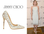 Emma Roberts' JimmyChoo 'Tia' Leather Pumps