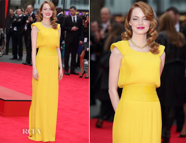 Emma Stone In Atelier Versace - 'The Amazing Spider-Man 2 Rise of Electro' World Premiere
