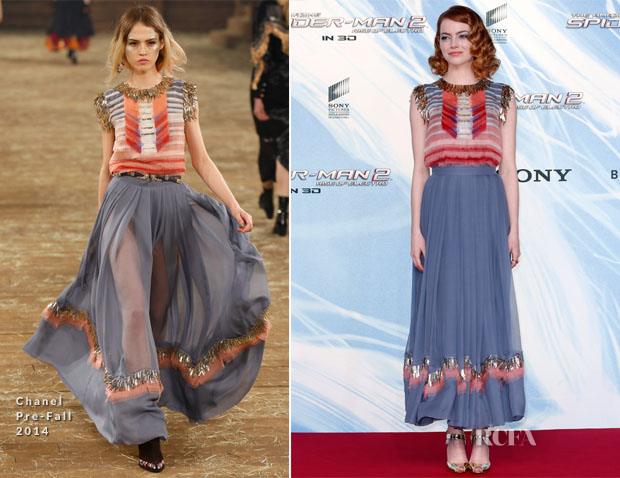 Emma Stone In Chanel - 'The Amazing Spider-Man 2 Rise Of Electro' Berlin Premiere