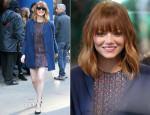 Emma Stone In Christian Dior & Max Mara - Good Morning America
