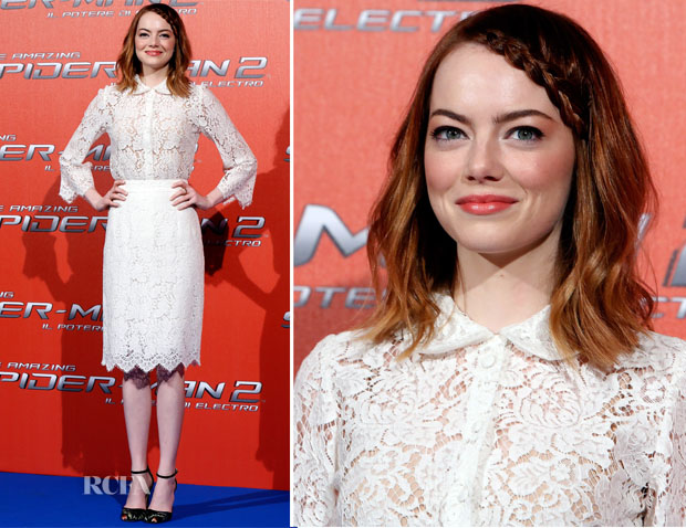 Emma Stone In Dolce & Gabbana - 'The Amazing Spider-Man 2 Rise Of Electro' Rome Photocall