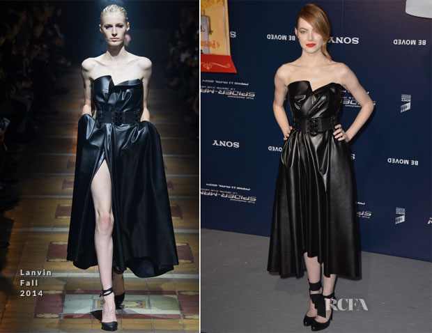 Emma Stone In Lanvin - 'The Amazing Spider-Man 2Rise Of Electro' Paris Premiere