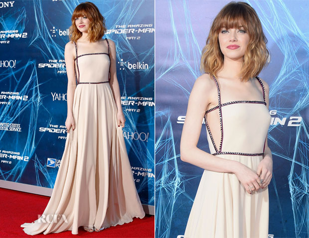 Emma Stone In Prada - 'The Amazing Spider-Man 2: Rise Of ... Spider Man Electro
