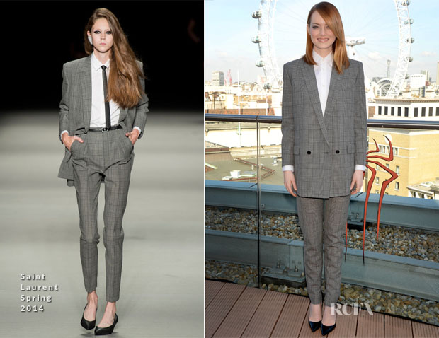 Emma Stone In Saint Laurent Spring 2014 - 'The Amazing Spider-Man 2 Rise of Electro' London Photocall