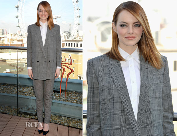 Emma Stone In Saint Laurent - 'The Amazing Spider-Man 2 Rise of Electro' London Photocall