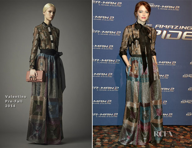 Emma Stone In Valentino - 'The Amazing Spider-Man 2 Rise Of Electro' Rome Premiere