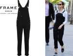 Emma Watson's Frame Denim 'Le Garcon' Stretch-Denim Overalls