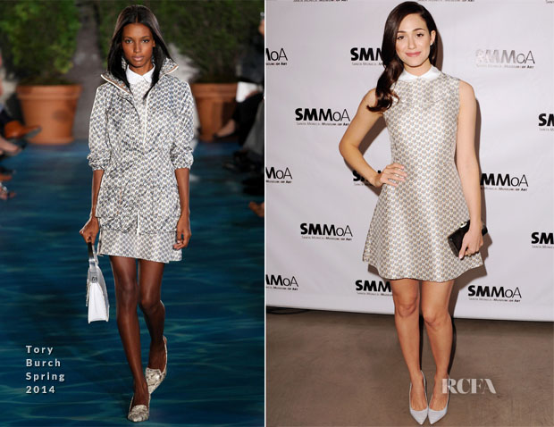 Emmy Rossum In Tory Burch - Santa Monica Museum Of Art's annual Precognito Gala
