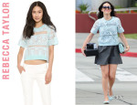 Emmy Rossum's Rebecca Taylor Patch Lace Top