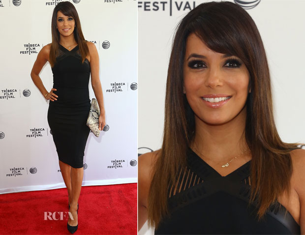Eva Longoria In David Koma - Tribeca Talks After the Movie 'Food Chains'