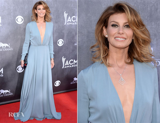Faith Hill In Saint Laurent - ACM Awards 2014