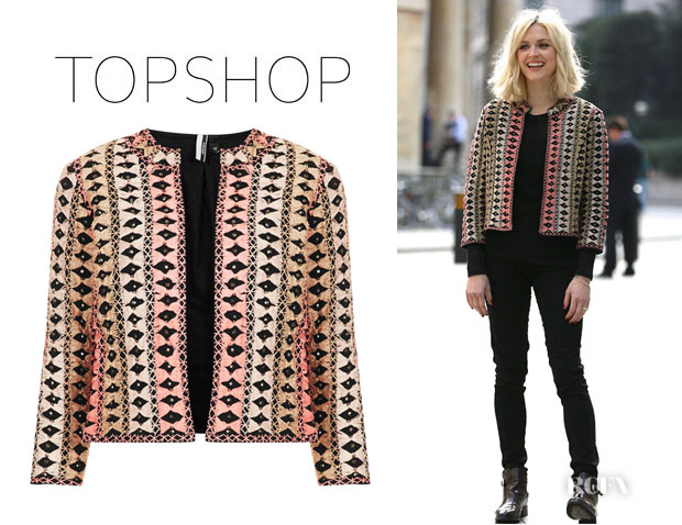 Fearne Cotton's Topshop Multi Thread Crop Jacket