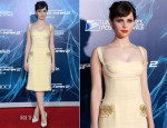 Felicity Jones In Miu Miu -  'The Amazing Spider-Man 2: Rise Of Electro' New York Premiere