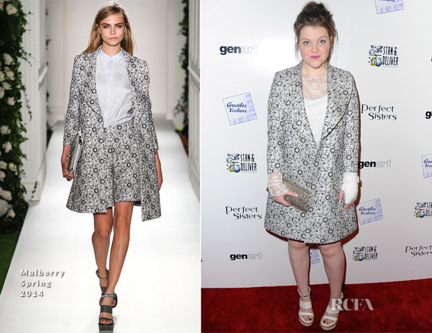 Georgie Henley In Mulberry - 'Perfect Sisters' LA Premiere