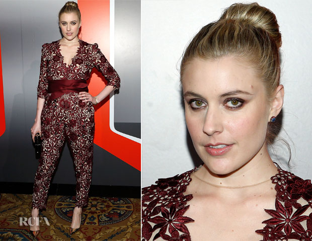 Greta Gerwig In Stella McCartney - The New Museum Annual Spring Gala