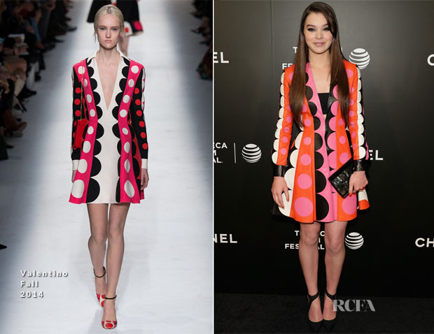 Hailee Steinfeld In Valentino - 'Begin Again' Tribeca Film Festival Closing Night Gala Premiere