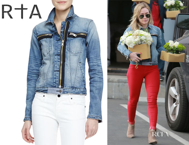 Hilary Duff's RtA Denim Faded Denim Jacket