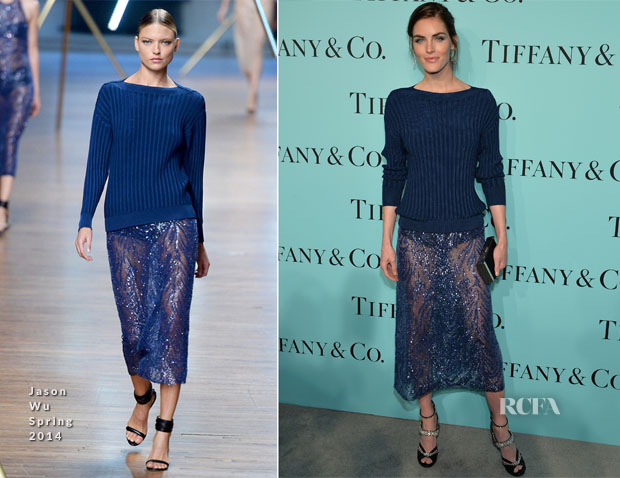 Hilary Rhoda In Jason Wu - Tiffany & Co Celebrates The 2014 Blue Book