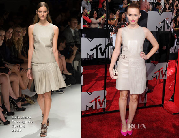 Holland Roden In Salvatore Ferragamo - MTV Movie Awards 2014