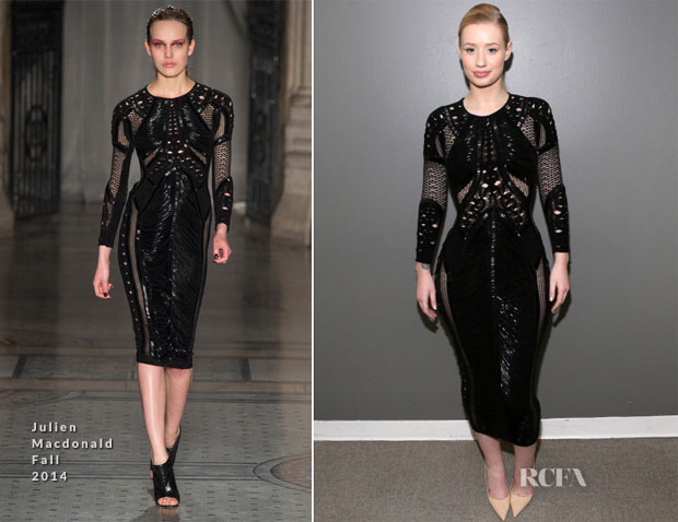 Iggy Azalea In Julien Macdonald - 106 & Park at BET Studios
