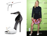 Jaime King's Giuseppe Zanotti Safety Pin Leather Sandals