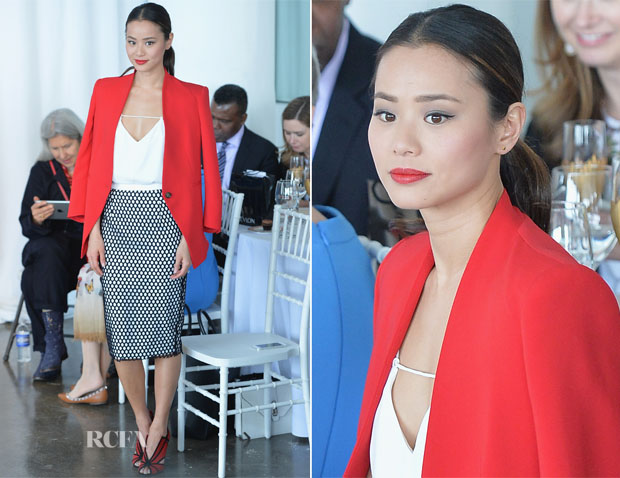 Jamie Chung In Reese + Riley, Cameo The Label & Elizabeth and James - Marchesa Spring 2015 Bridal Show