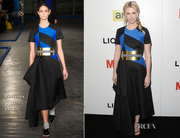 January Jones In Roksanda Ilincic - 'Mad Men' Season 7 LA Premiere
