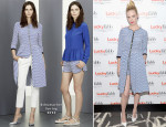 January Jones In Schumacher - Lucky FABB: Fashion and Beauty Blog Conference