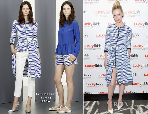 January Jones In Schumacher - Lucky FABB Fashion and Beauty Blog Conference