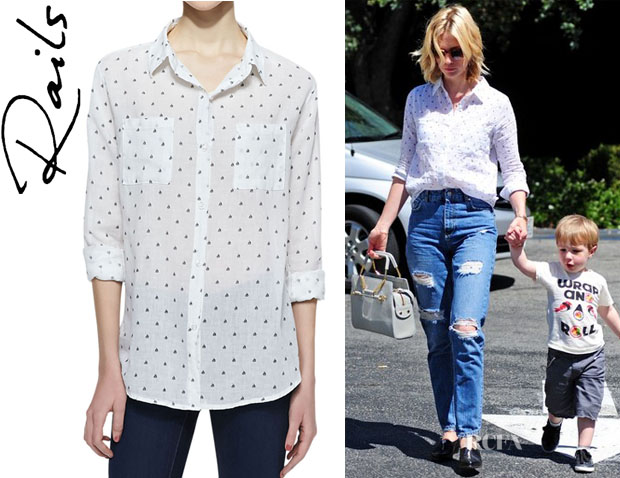January Jones' Rails 'Jesse' Sailboat Print Button Down Shirt