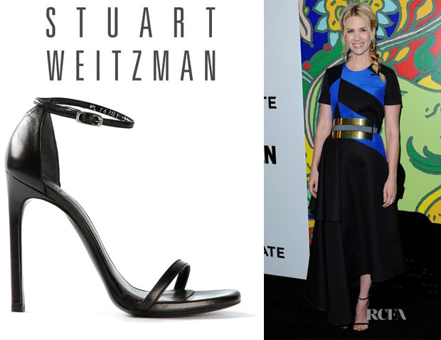 January Jones' Stuart Weitzman 'Nudist' Sandals