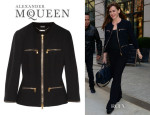 Jennifer Garner's Alexander McQueen Zip-Detailed Crepe Jacket