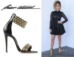Jennifer Lopez' Brian Atwood 'Abell' Ankle-Cuff Sandals