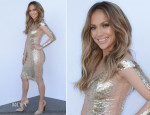 Jennifer Lopez In Georges Chakra - 'American Idol Season 13: Top 5 To 4′ Elimination Show