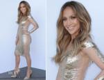 Jennifer Lopez In Georges Chakra - 'American Idol Season 13: Top 5 To 4′ Elimination Show