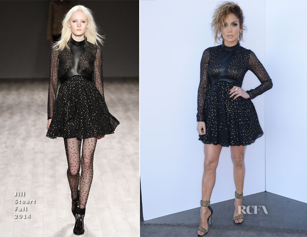 Jennifer Lopez In Jill Stuart - American Idol Season 13 Top 7 To 6′ Live Show