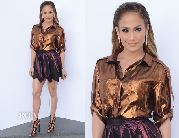 Jennifer Lopez In Lanvin & Vivienne Westwood Red Label - 'American Idol Season 13 Top 5 To 4′ Live Show