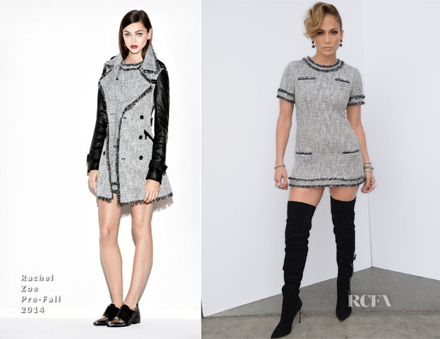 Jennifer Lopez In Rachel Zoe - 'American Idol Season 13 Top 6 To 5′ Elimination Show