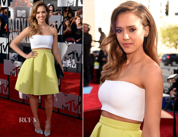 Jessica Alba In Piece d'Anarchive &  Kenzo - MTV Movie Awards 2014