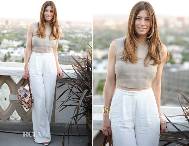 Jessica Biel In Vionnet - Tiffany & Co the Atlas Collection Celebration