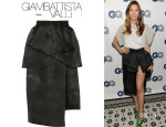 Jessica Biel's Giambattista Valli Pleated Silk-Organza Skirt