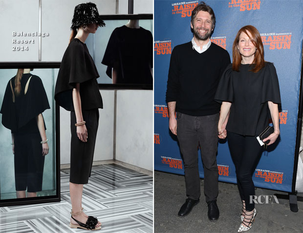 Julianne Moore In Balenciaga - 'A Raisin In The Sun' Broadway Opening Night