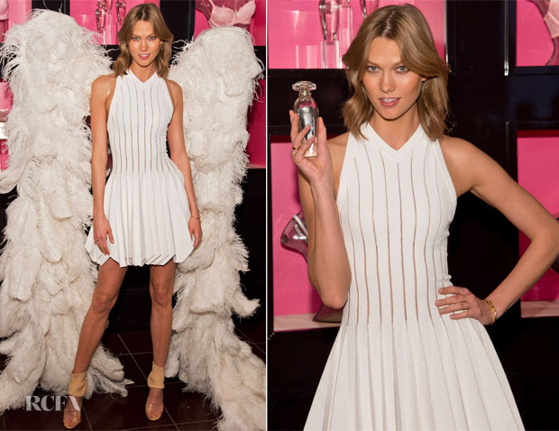 Karlie Kloss In Azzedine Alaia - Victoria's Secret 'Heavenly' Fragrance Launch