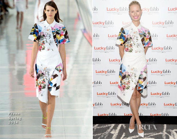 Karolina Kurkova In Preen - Lucky FABB Fashion and Beauty Blog Conference