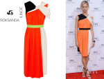Karolina Kurkova's Roksanda Ilincic Colour-Block Dress